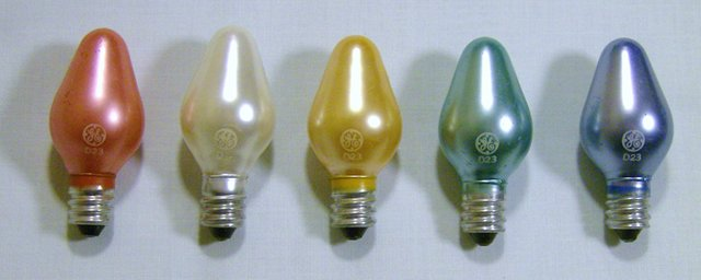 - G.E. Christmas Bulbs And Light Sets